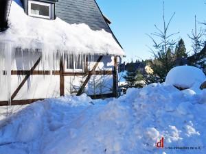 Eiszapfen am Helenenhof