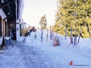Wintersportler in unserem Gasthaus